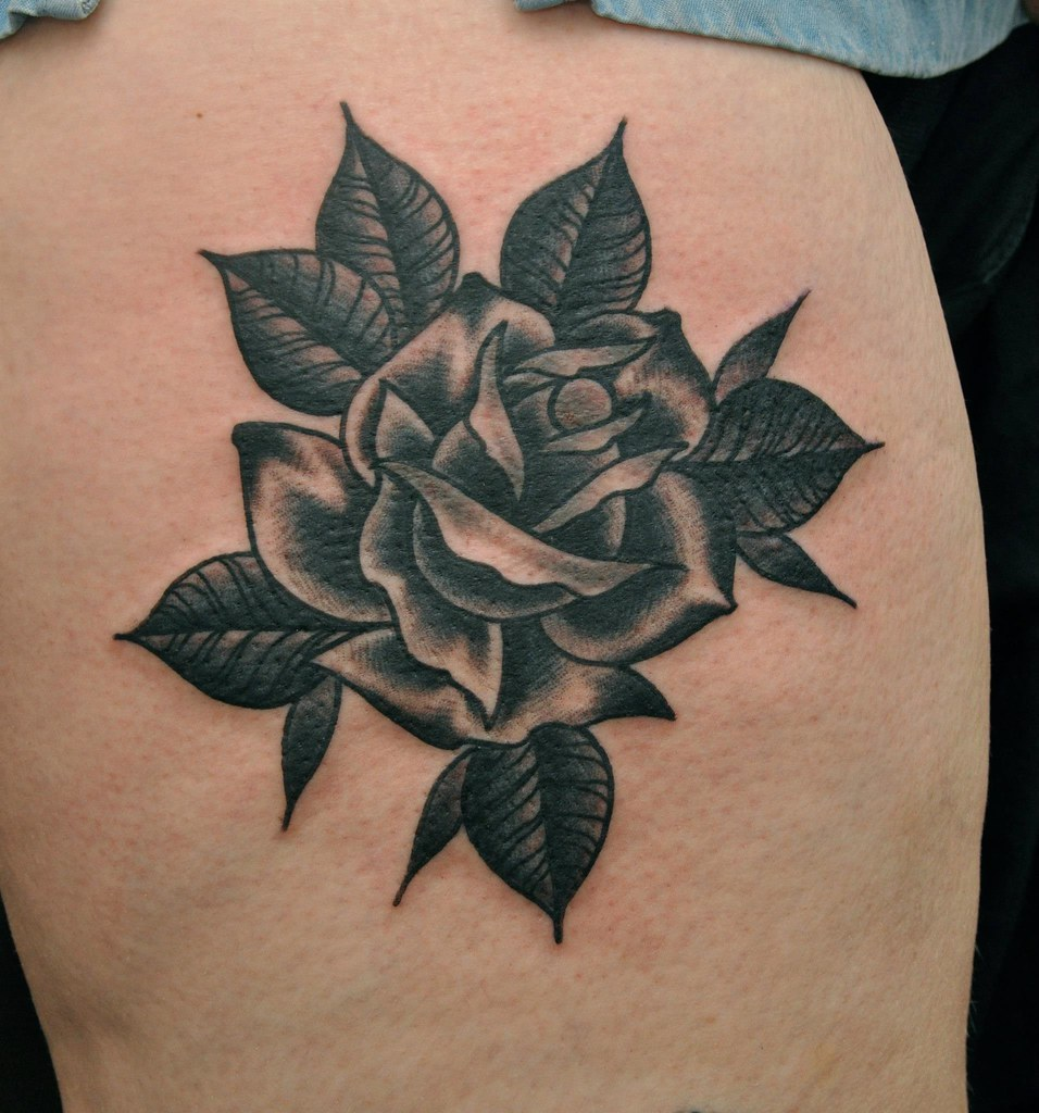 TRADITIONAL ROSE TATTOO | BY PHIL GIBBS | Stand Proud ...