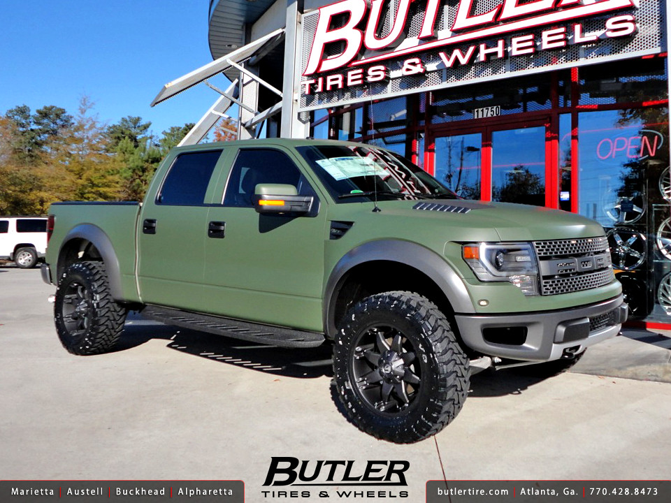 Ford Ranger Matte Green >> Matte Army Green Ford Raptor with 20in Fuel Octane Wheels   Flickr