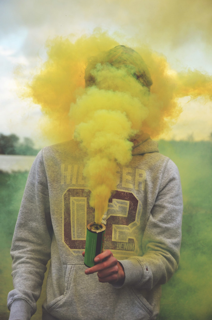 Yellow Smoke Tumblr Yellow Smoke Bomb | by