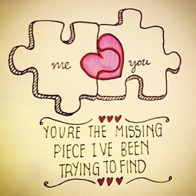 Quotes About Love: This Is Cute #adorable #love #lovequotes #heart #puzzle #t