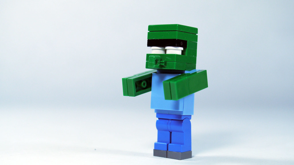 Lego minecraft zombie villager see how to build it www for Zombie build