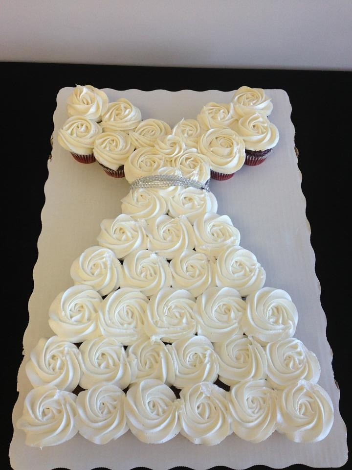 Wedding Dress Cupcake Cake Tutorial Images