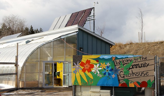 The Groundswell Community greenhouse harvests solar energy four ways to save energy and make a 10-month growing season vible in sunny, cold Canada.