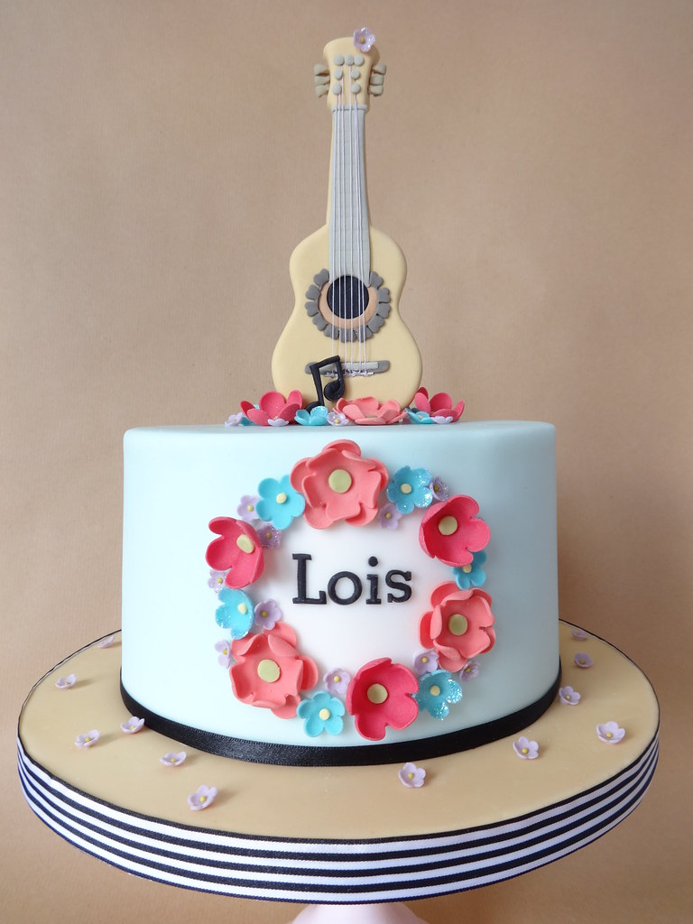 Acoustic Guitar Cake For Lois s 10th birthday. I made ...
