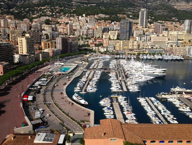view of monaco harbour