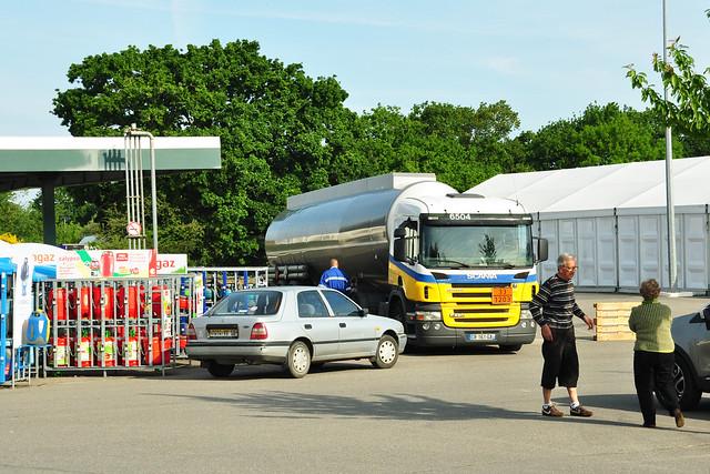 Frankreich Streik Benzinknappheit Benzinmangel Tanklastzug Benzinlieferung Foto: Brigitte Stolle 2016