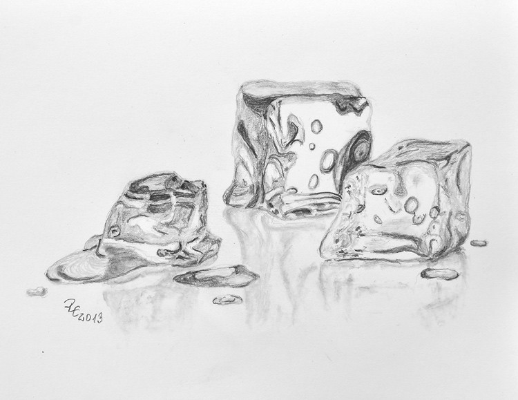 Ice Cubes Drawing Melting Ice Cubes | Flickr
