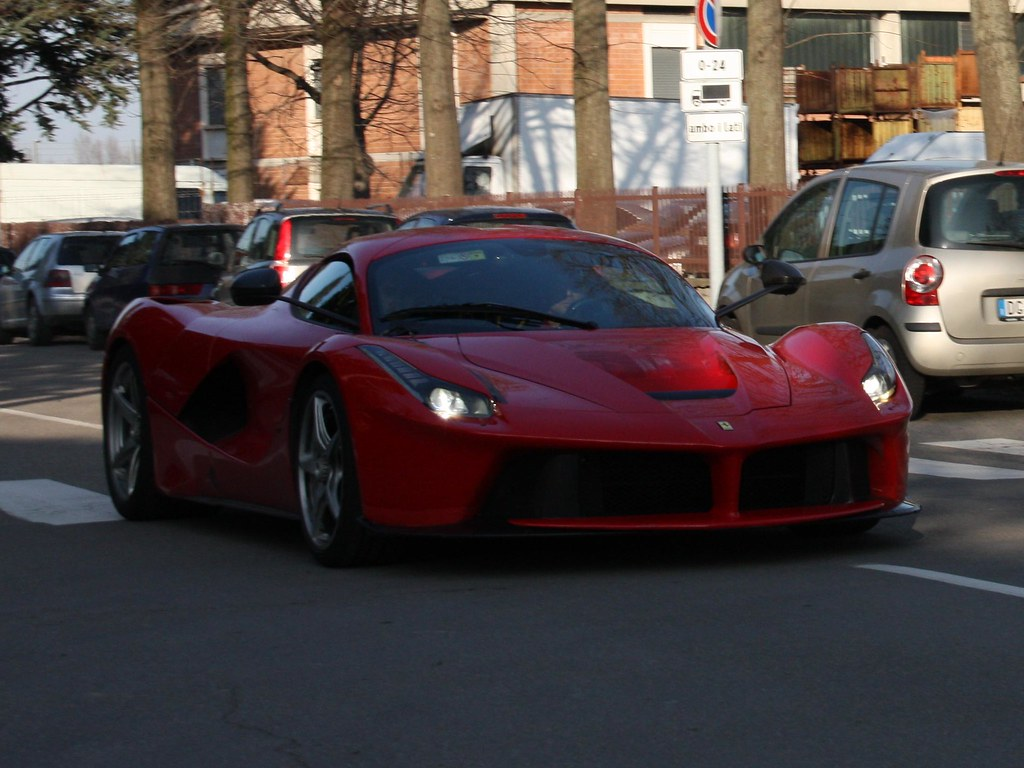 red Ferrari laFerrari with red roof   more pics in the ...