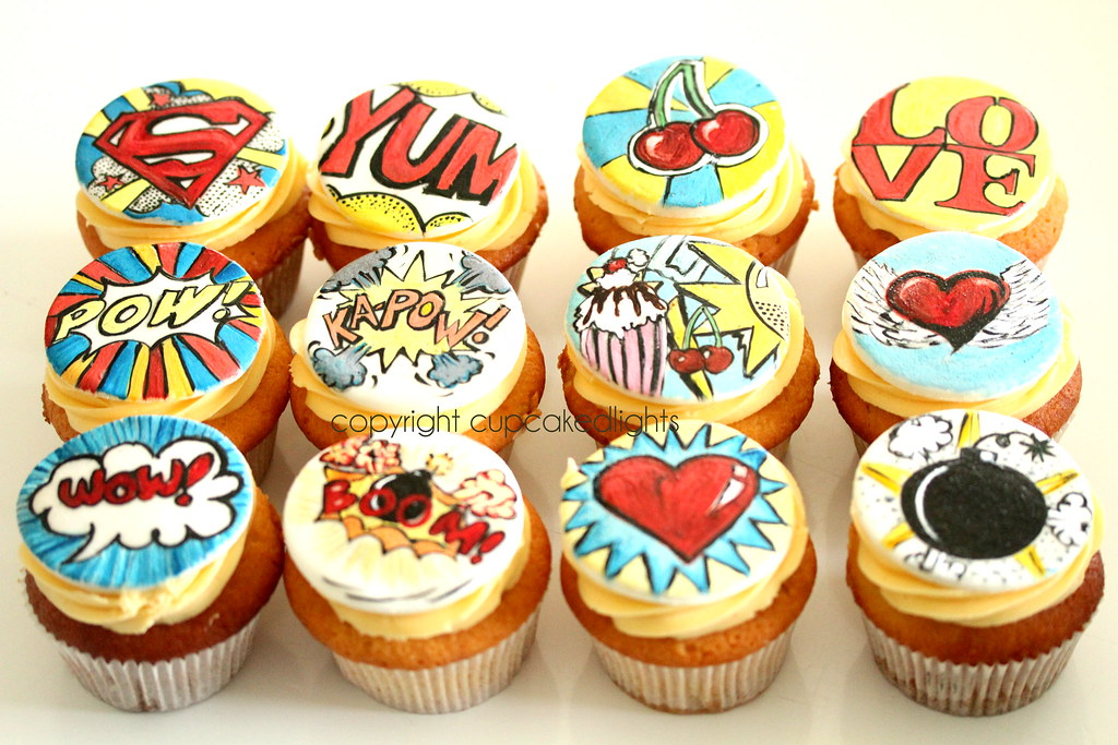 imans pop art cupcakes iv done many cakes for Iman and ...
