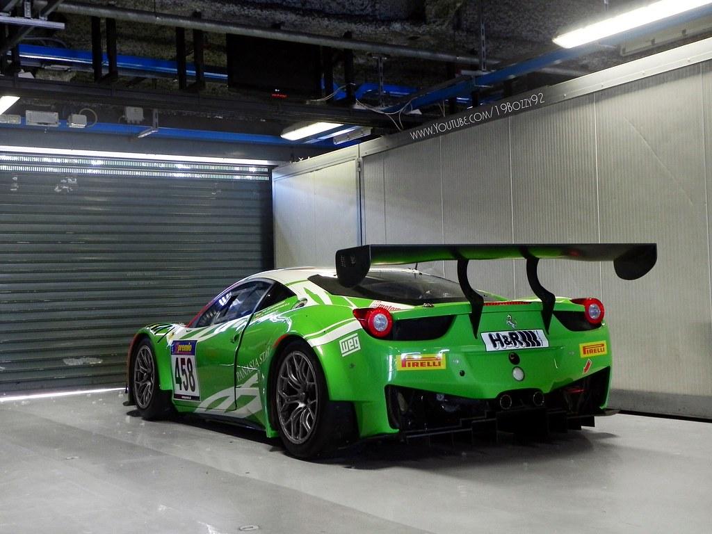 green ferrari rinaldi racing ferrari 458 gt3 facebook page flickr. Black Bedroom Furniture Sets. Home Design Ideas