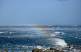 Armenistis Ikaria winter storm and rainbow splash by Wim De Weerdt on Flickr