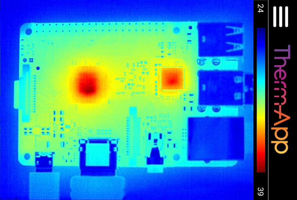 Raspberry Pi 2 Thermal Image Thermal View Of The