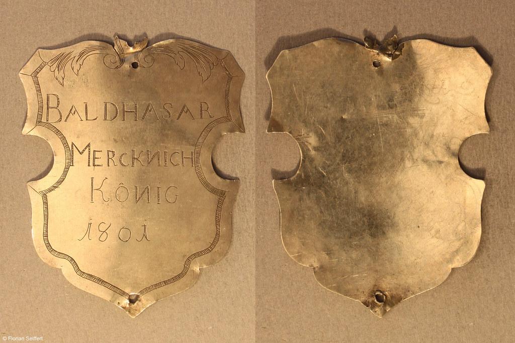 Koenigsschild Flittard von mercknich baldhasar aus dem Jahr 1801