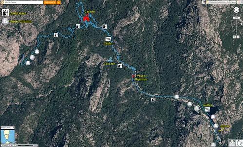 Photo aérienne du parcours APB du 14/06/2016 entre la brèche et le ravin du Velacu