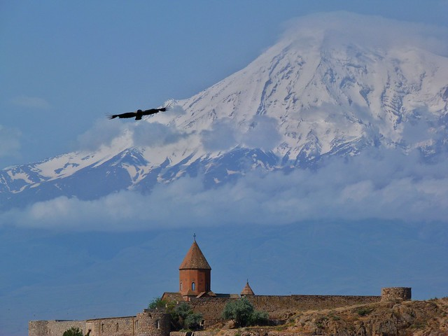 Khor Virap y el Monte Ararat (Armenia)