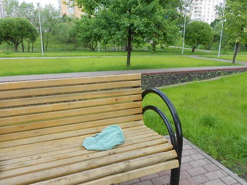Вязание в парке