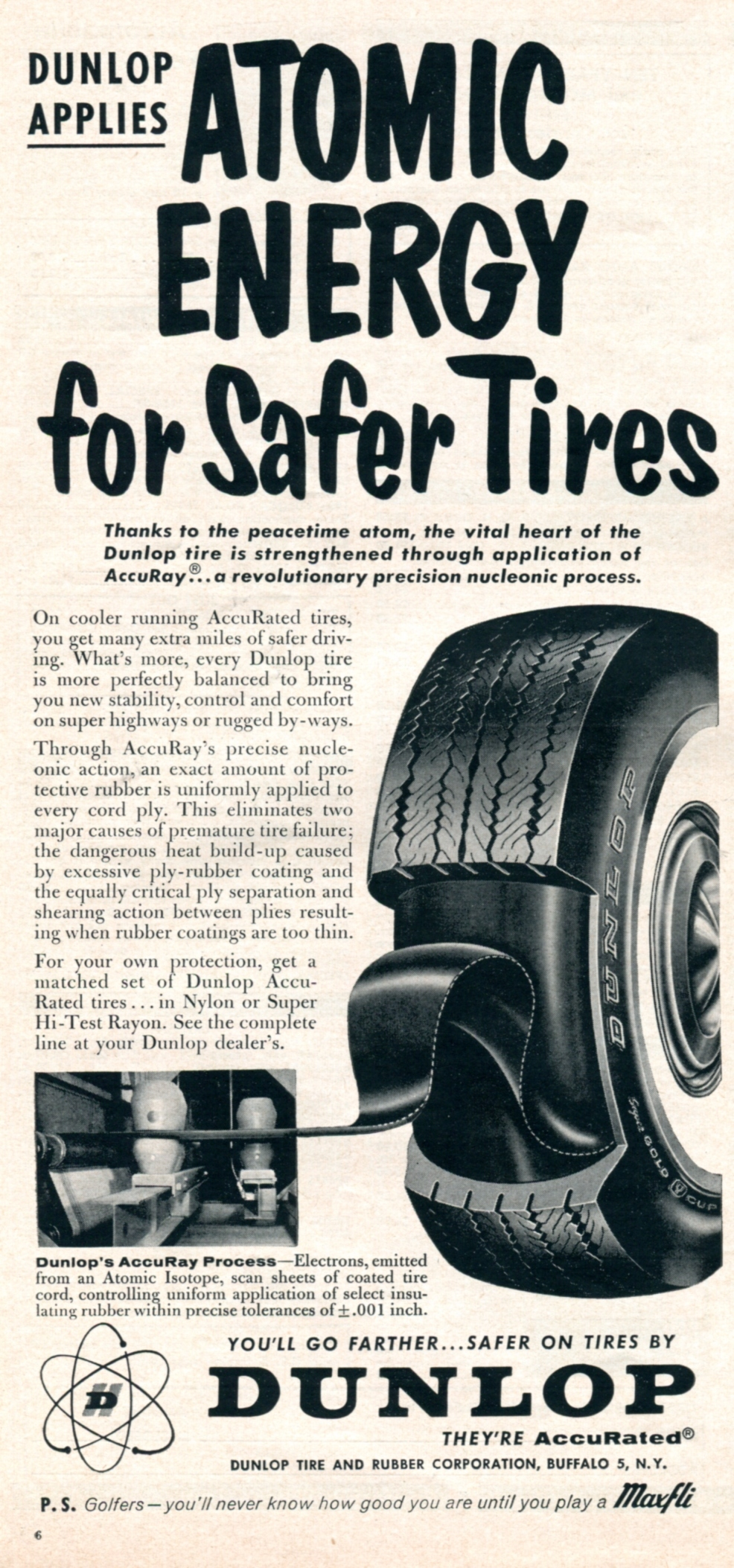 Dunlop - published in Road and Track - May 1957