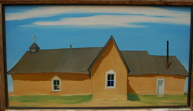 Georgia O'Keeffe - Cebolla Church (1945) - North Carolina Museum of Art