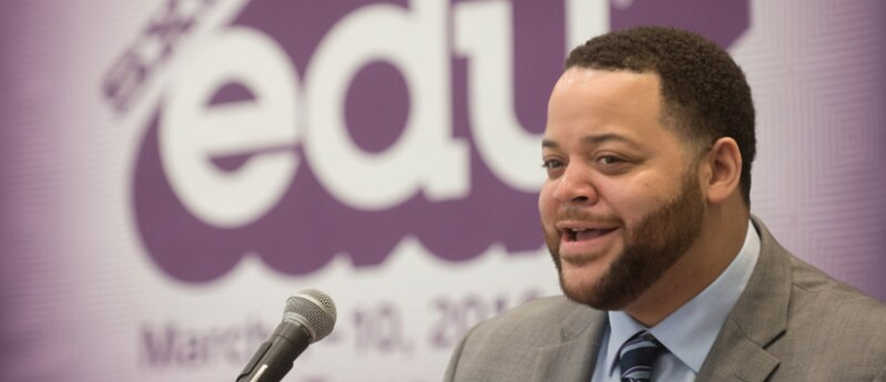 Michael Smith (President Obama's lead on the MBK initiative) speaks at SXSWedu 2016