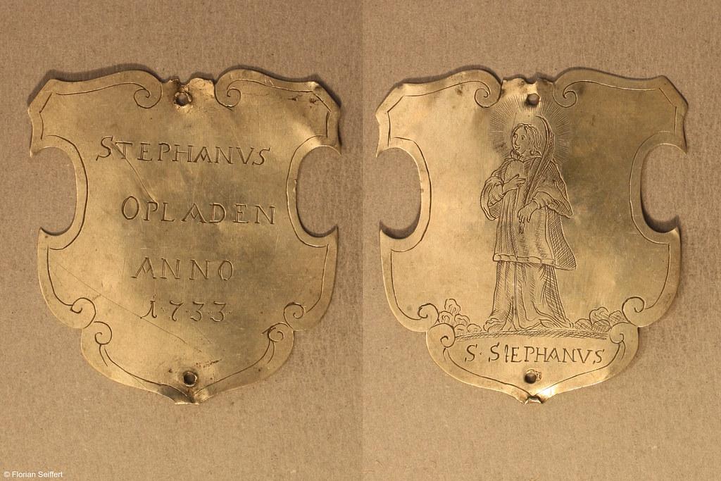 Koenigsschild Flittard von opladen stephanus aus dem Jahr 1733