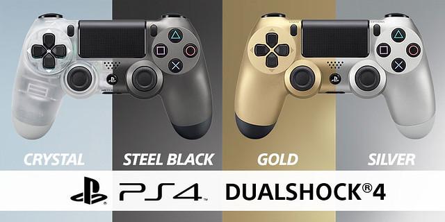 Кристальный и стальной черный DUALSHOCK 4 поступят в продажу в июле