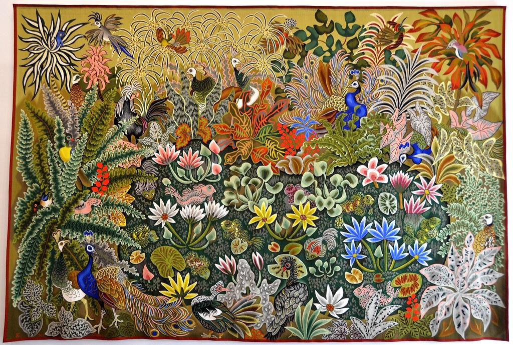 Tapisserie de dom robert les enfants de lumi re carton - Galerie nationale de la tapisserie beauvais ...