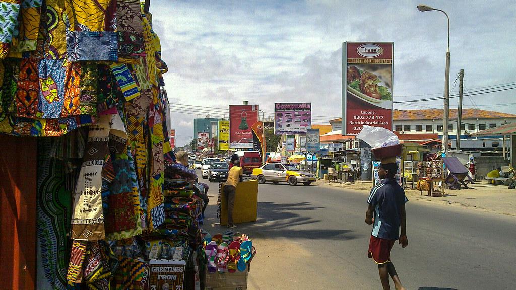 Accra city center | Taken on 15 September 2013 in Ghana ...