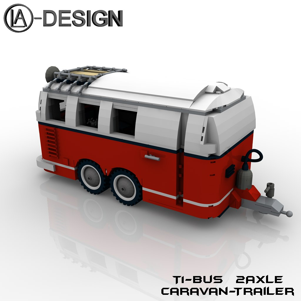 Lego Custom T1 10220 Bus Wohnwagen Camper Trailer 5 Flickr