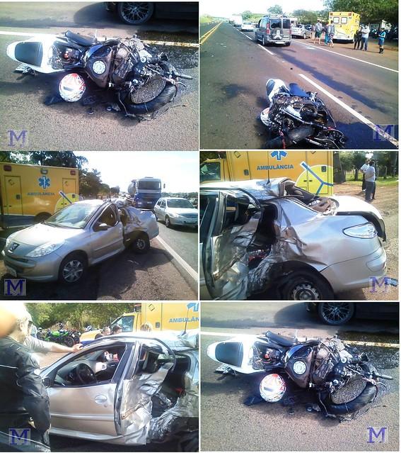 acidente motocicleta pr 444