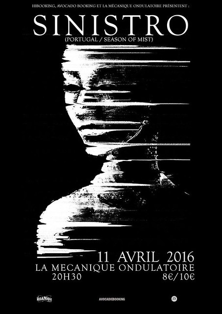 Sinistro @La Mécanique Ondulatoire, Paris 11 de abril de 2016