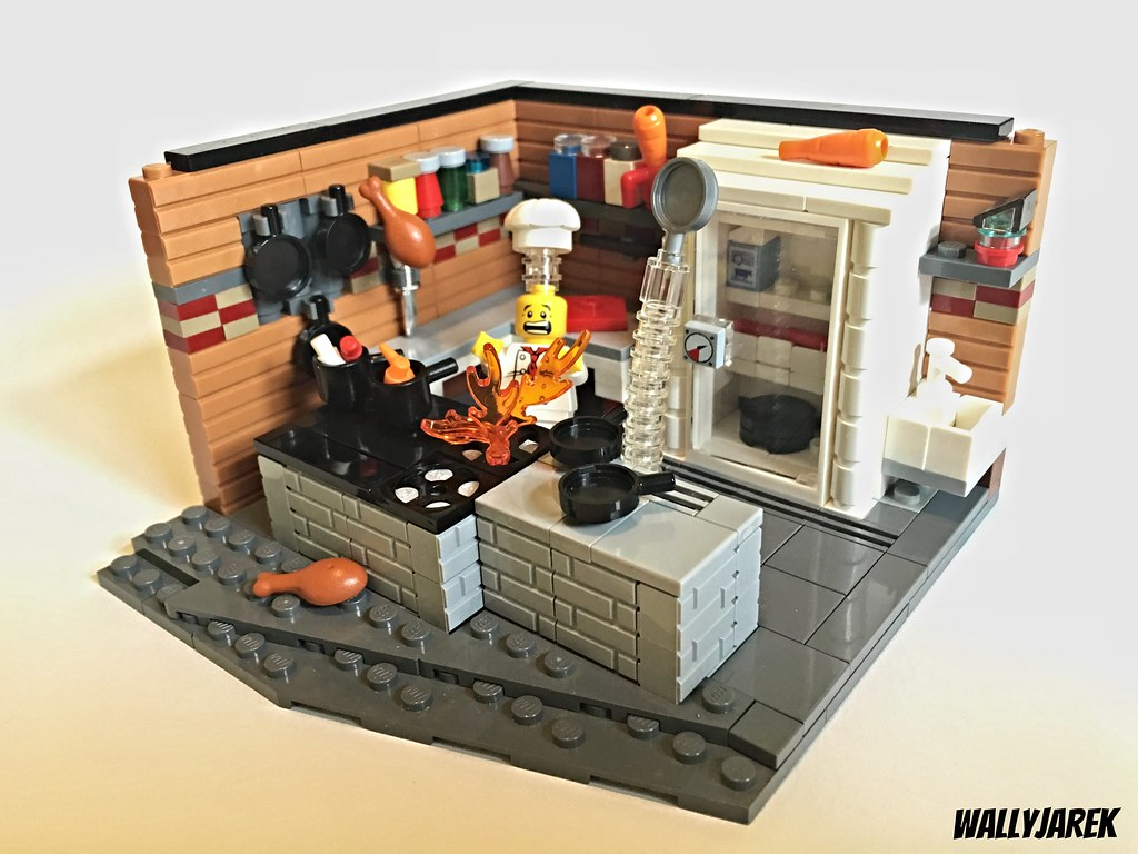 Don 39 t burn the kitchen my entry brickhamster 39 s contest flickr - Lego house interior ...
