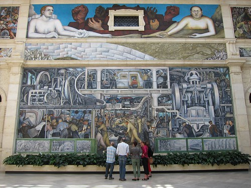 Detroit industry mural diego rivera fresco depicting for Diego rivera mural chicago