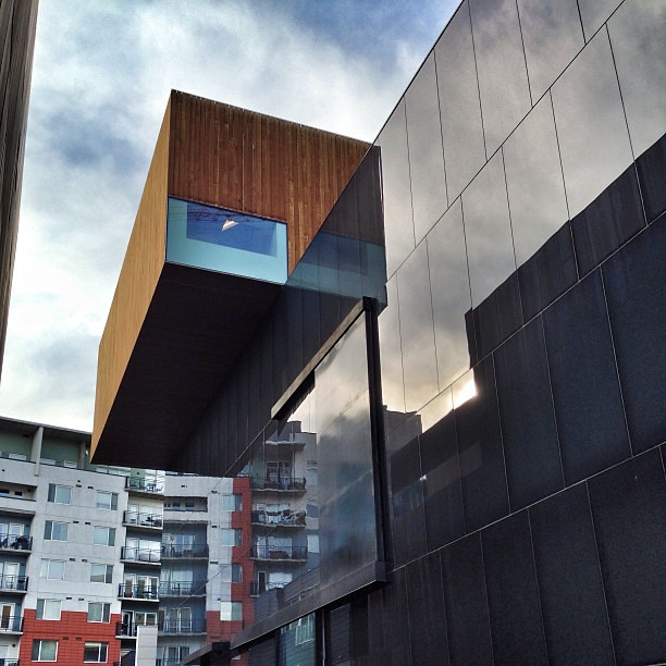 Cantilevered Box At The Museum Of Contemporary Art In Denv