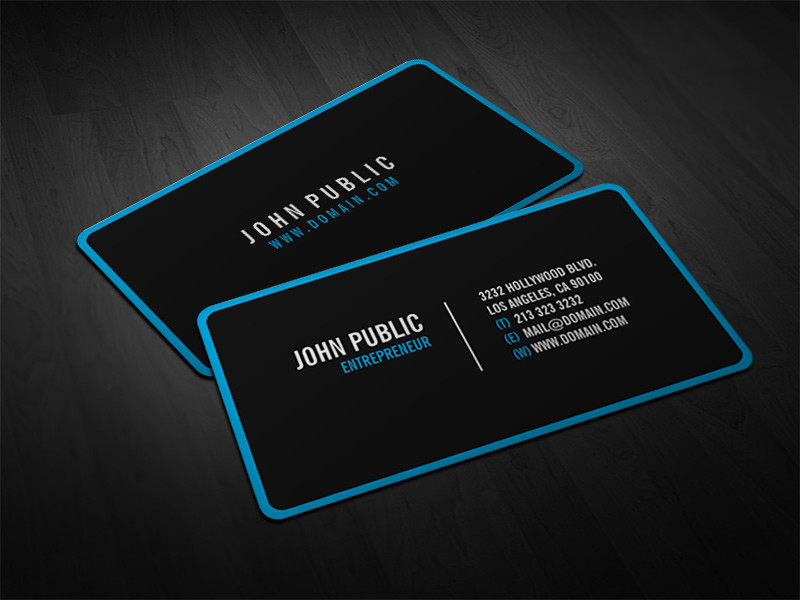 Modern black business cards with rounded corners modern bl flickr reheart Image collections