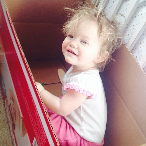 Kids are like cats. Give'em a box and they are entertained. #100happydays Day 40