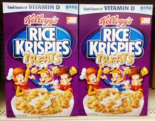 Rice Krispies Treats Marshmallow Kids Breakfast Cereal. Kellogg's Rice ...