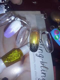 bling bling nail art