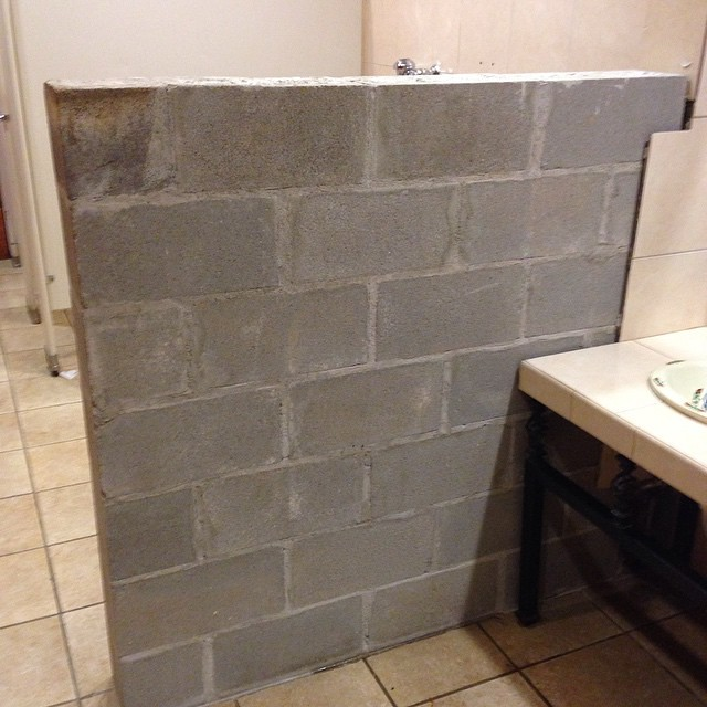 Block World Free >> And shout out to this randomly unfinished cinder block wal ...