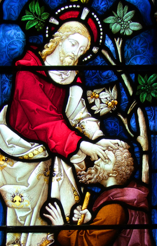 Jesus Heals A Blind Man All Saints Rickling Essex I