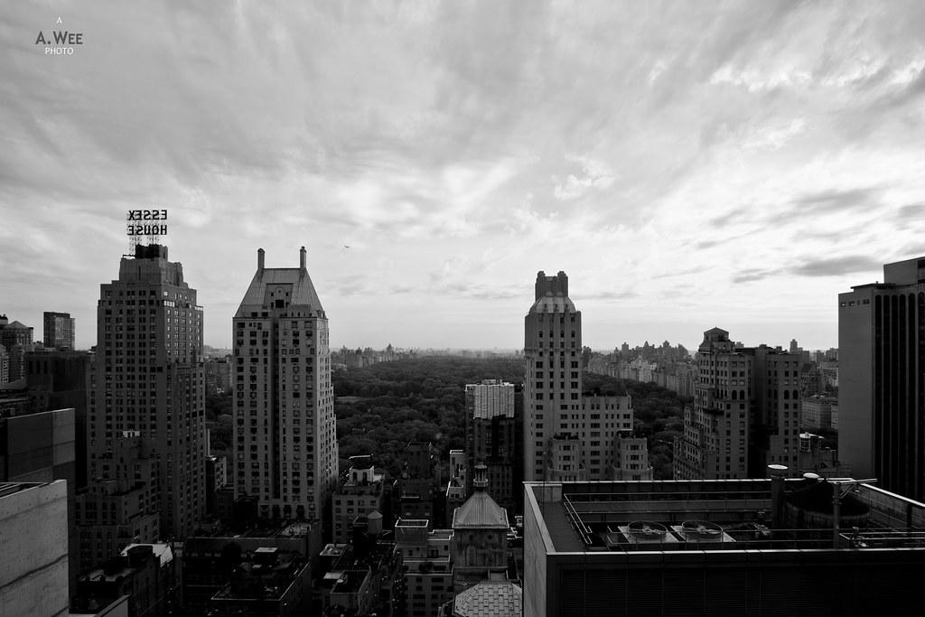 central park view in b w le parker meridien new york. Black Bedroom Furniture Sets. Home Design Ideas