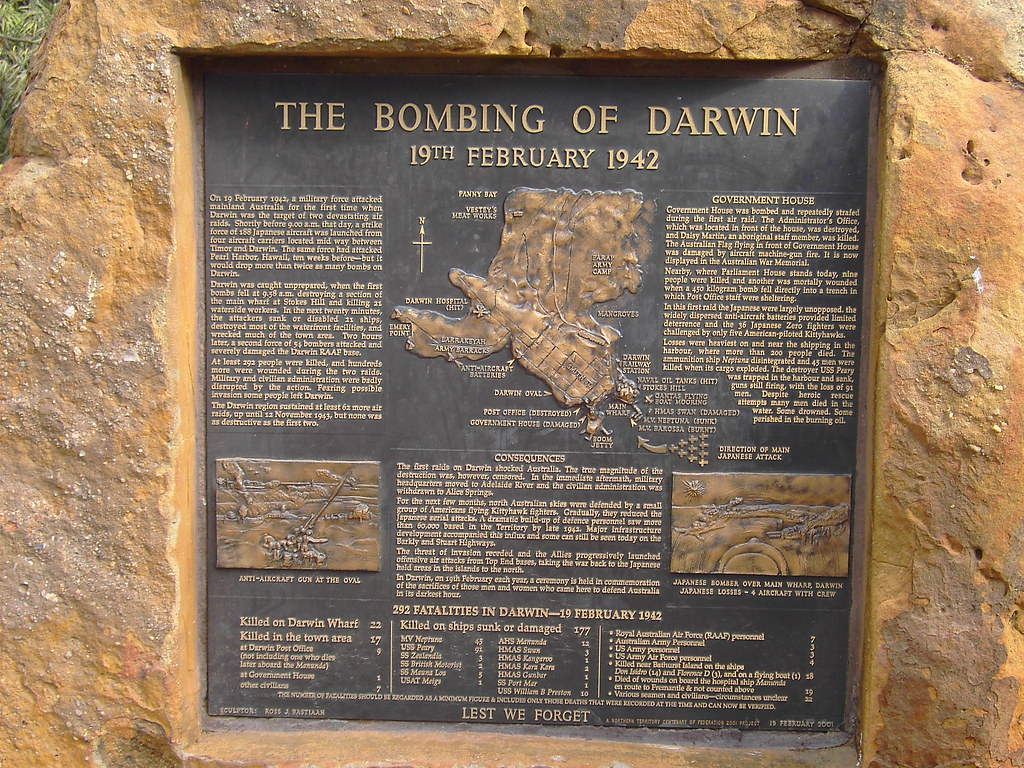 essay darwin bombing A selection of state archives re the involvement of nsw in world war ii 1942 bombing of darwin: nsw sent up fire engines etc to help set up a fire brigade.