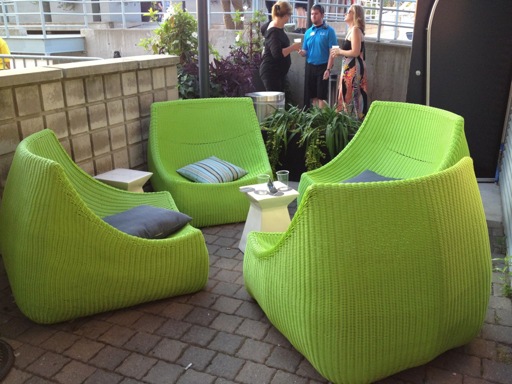 Lime green patio