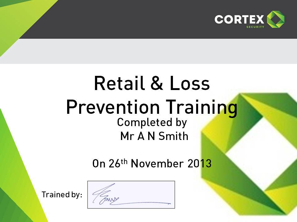 Retail & Loss Prevention Certificate | Cortex Security | Flickr