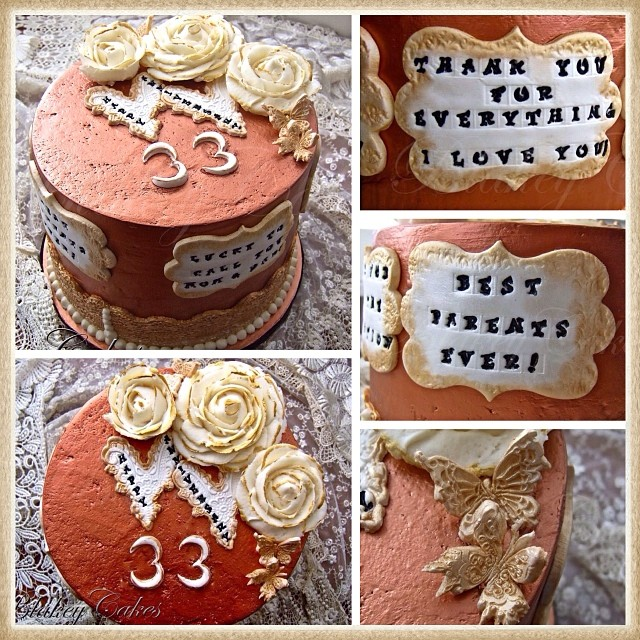 33rd Wedding Anniversary Gift: A Surprise #Anniversary #Cake For A Couple's 33rd #wedding