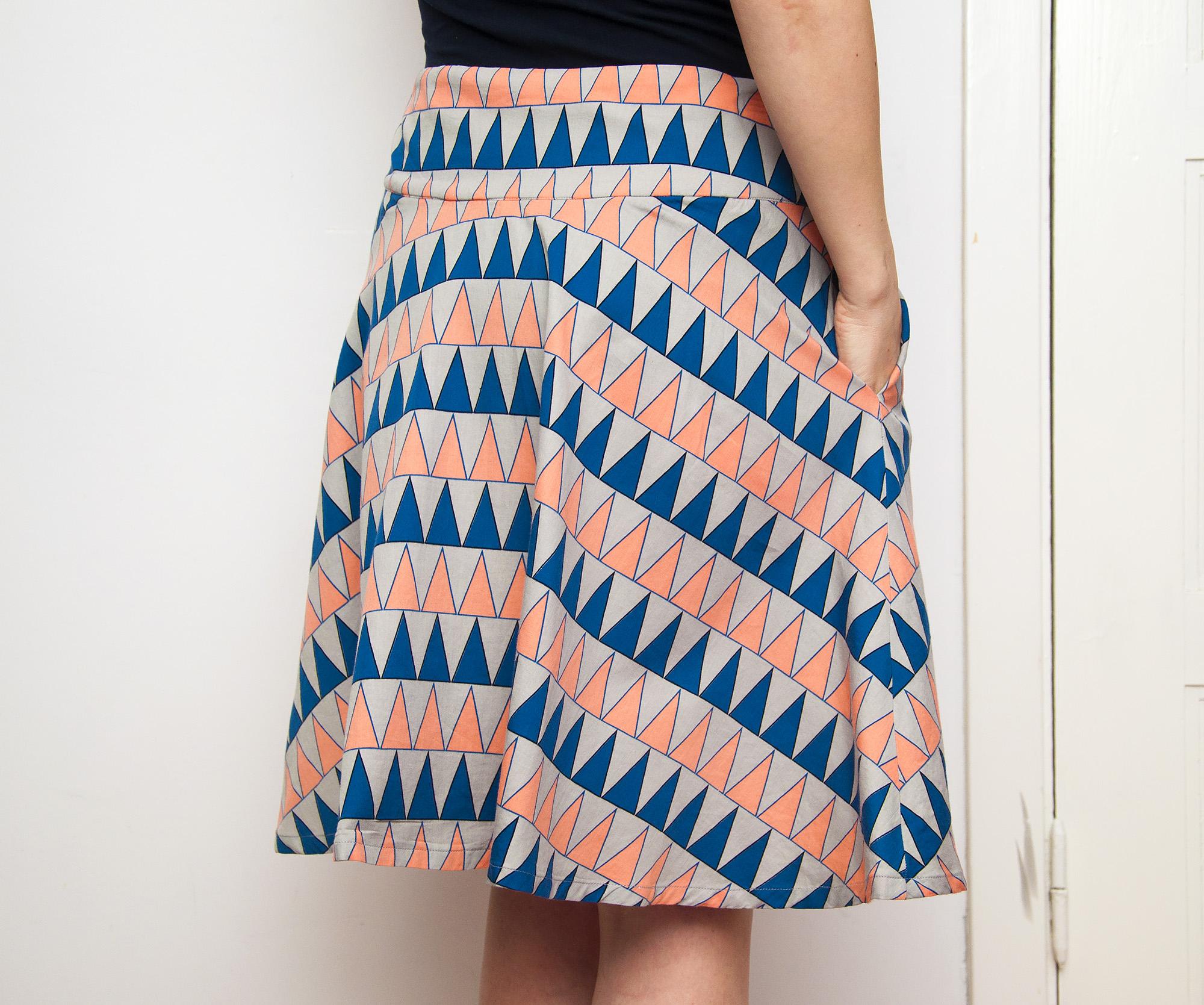 Burdastyle half circle skirt