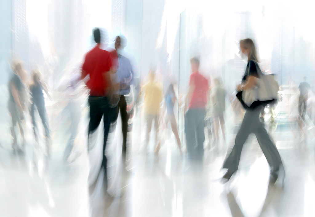 motion blurred business people | intentional motion ...