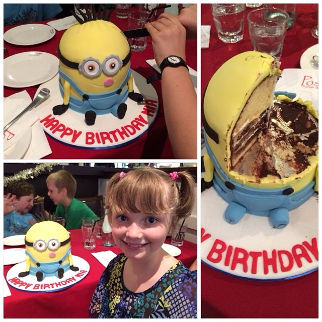 Minion Birthday Cake With The Name Kara