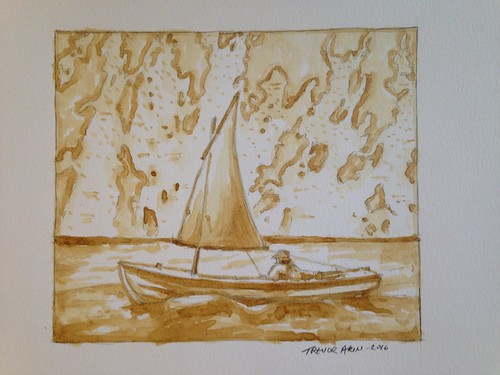 Coffee sailboat art for Christophe M. of gisamateur.blogspot.com