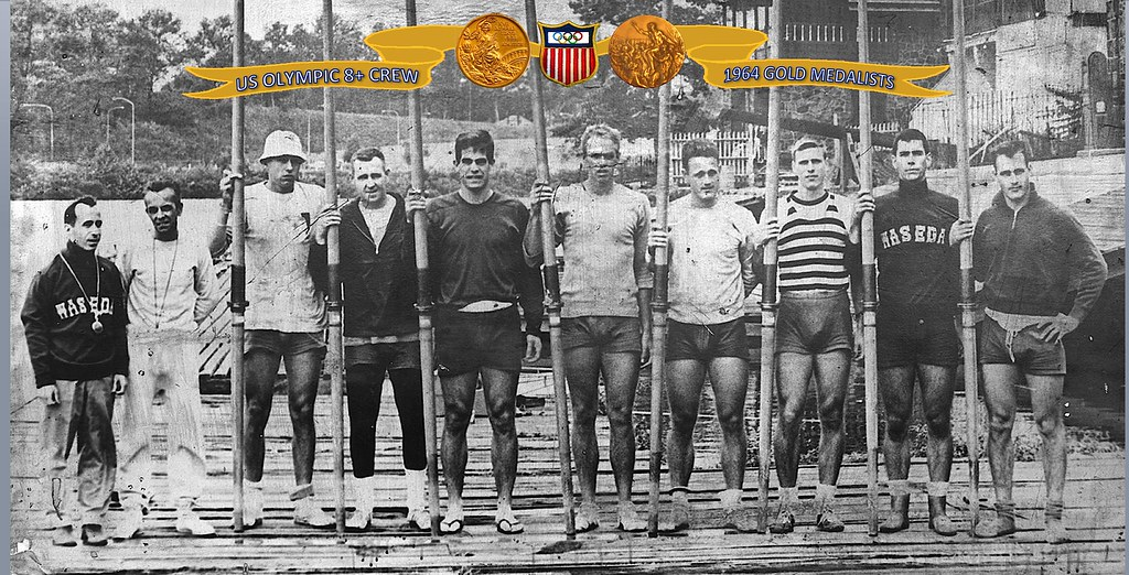1964 US Tokyo Olympic eight-oared crew rowing Gold Medalis ...
