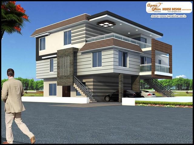 Apna ghar house design joy studio design gallery best for Triplex house designs